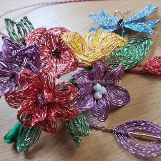 Ganutell flower kit from Gina-B Silkworks