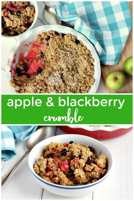 Easy Apple & Blackberry Crumble