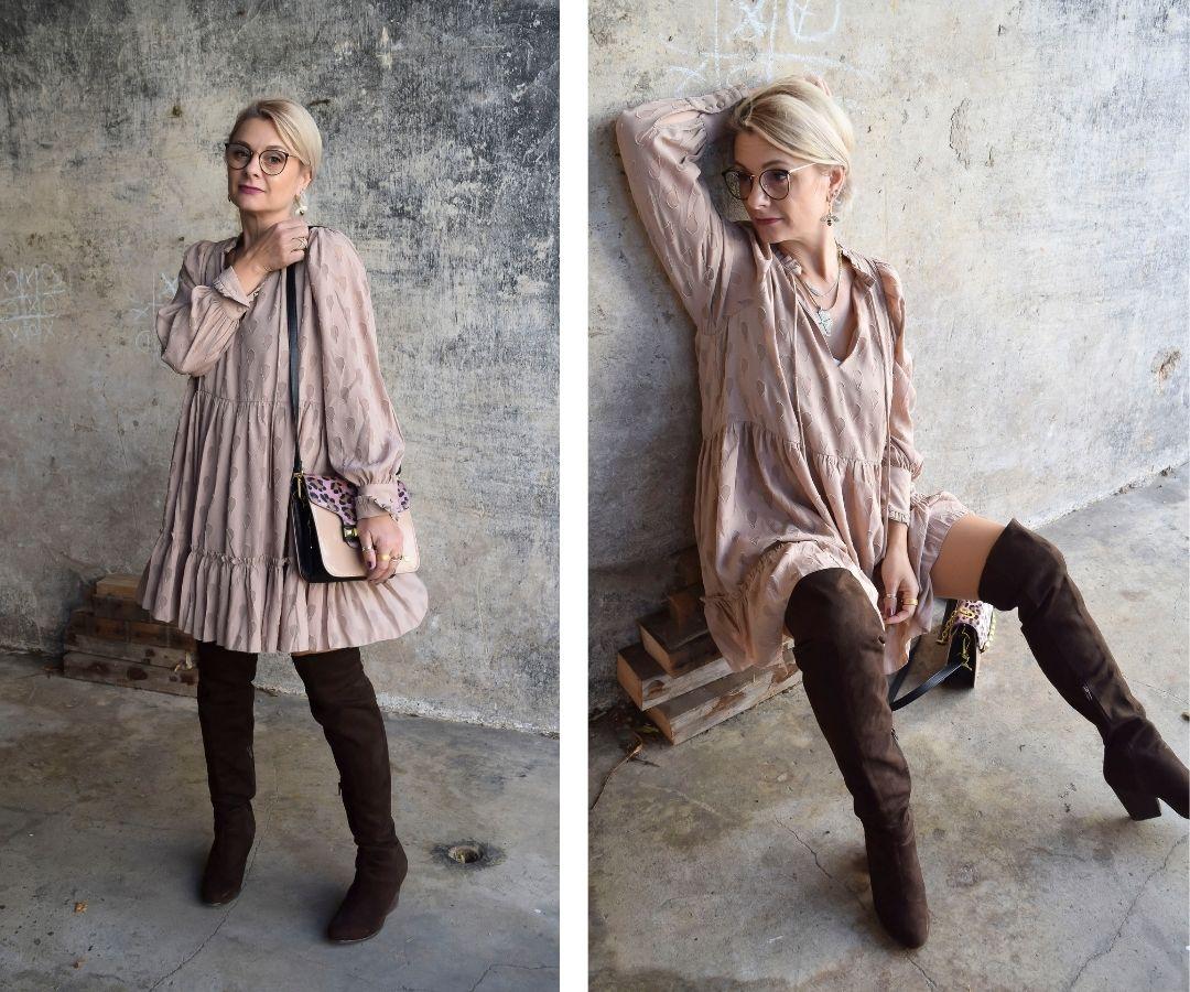 outfit-minikleid-rosa-overknees