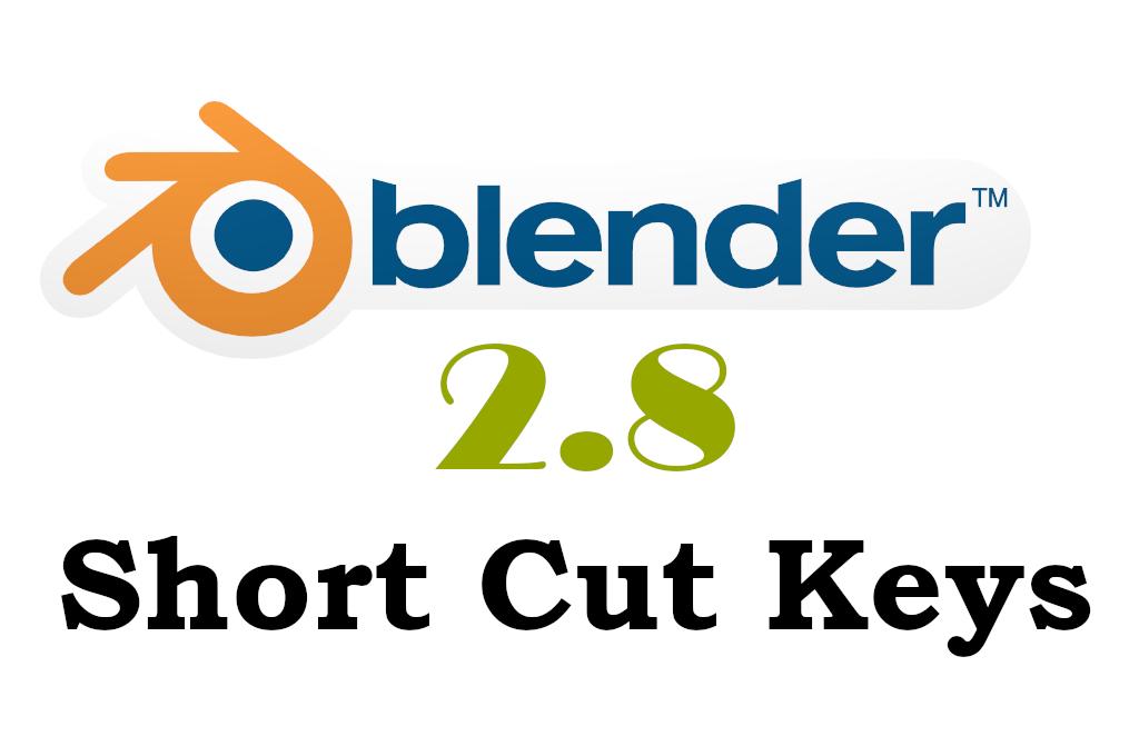 Blender 2 8 Shortcut list - Blender Tutorial | Beginner to