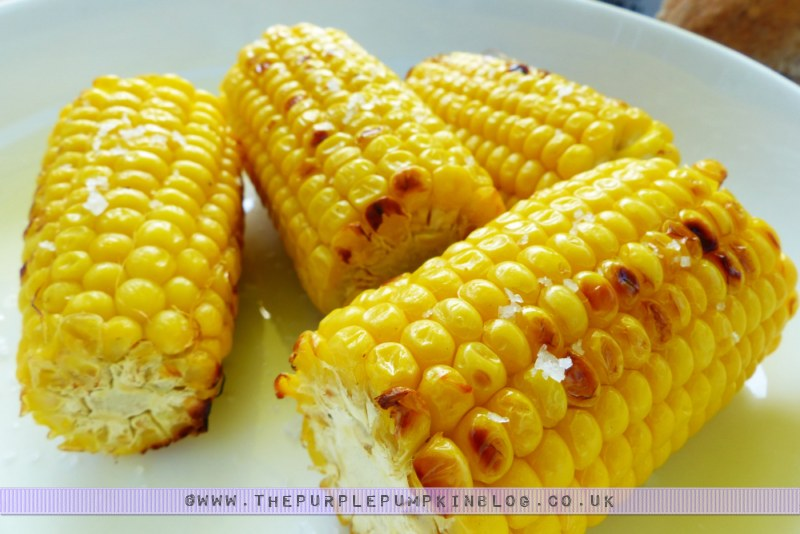 Budget #BBQ for a family of 4 for a tenner! with ASDA & #CBias: Grilled Corn on the Cob with Sea Salt