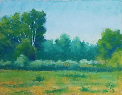landscape painting pastel nature art