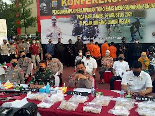 Polisi Buru Penadah Sepedamotor yang Digunakan Perampok Toko Emas Simpang Limun Medan