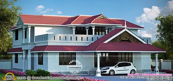 Luxurious Kerala style house
