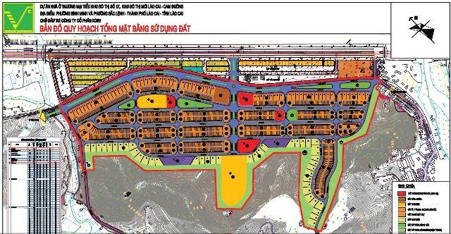 Mặt bằng quy hoạch khu đất xây dựng khu đô thị Kosy