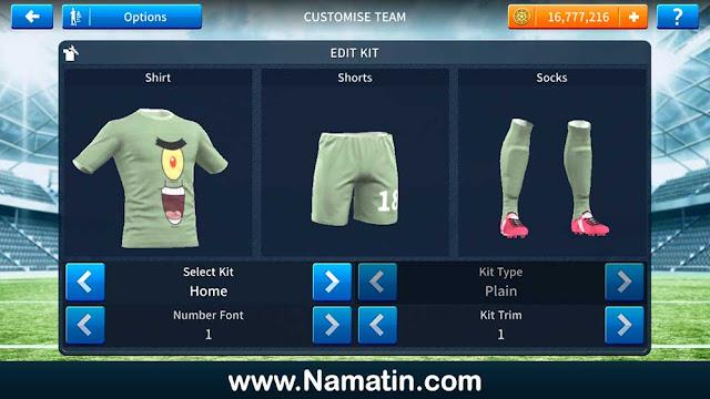 Kaos Dream League Soccer Plankton Spongebob