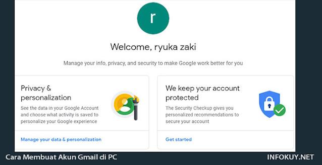 Cara Membuat akun Gmail di PC #4