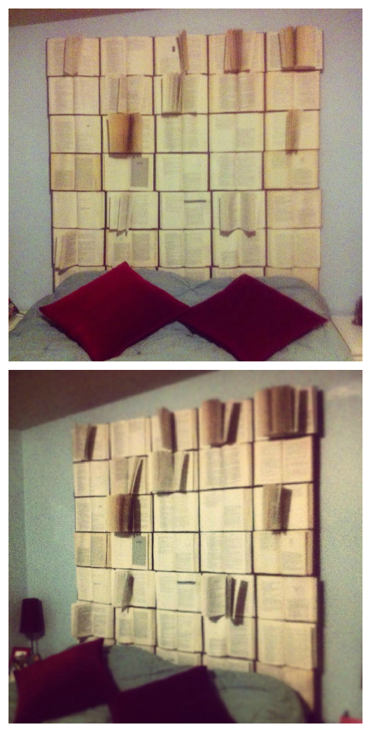 A While Back I Linked To An Awesome Book Headboard Diy My Friend Terri Had Been Threatening For Years Create Such Thing Aly This Tutorial