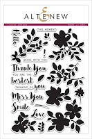 Floral Shadow Stamp Set
