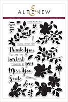Floral Shadow Stamp Set