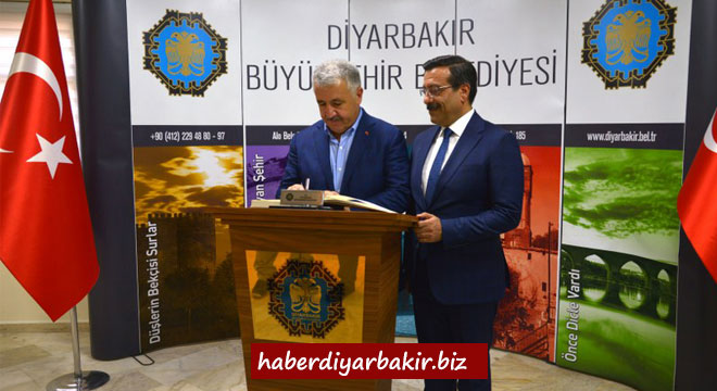 Bakan Arslan'dan Diyarbakır Büyükşehir Belediyesine ziyaret