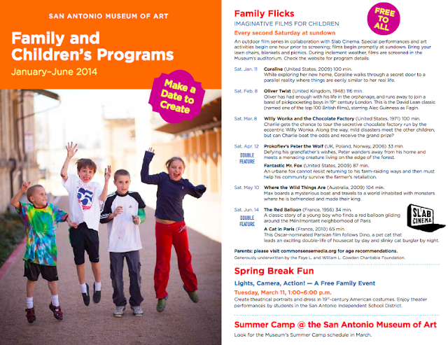 The San Antonio Museum of Art Family Programs Brochure is out for 2014!