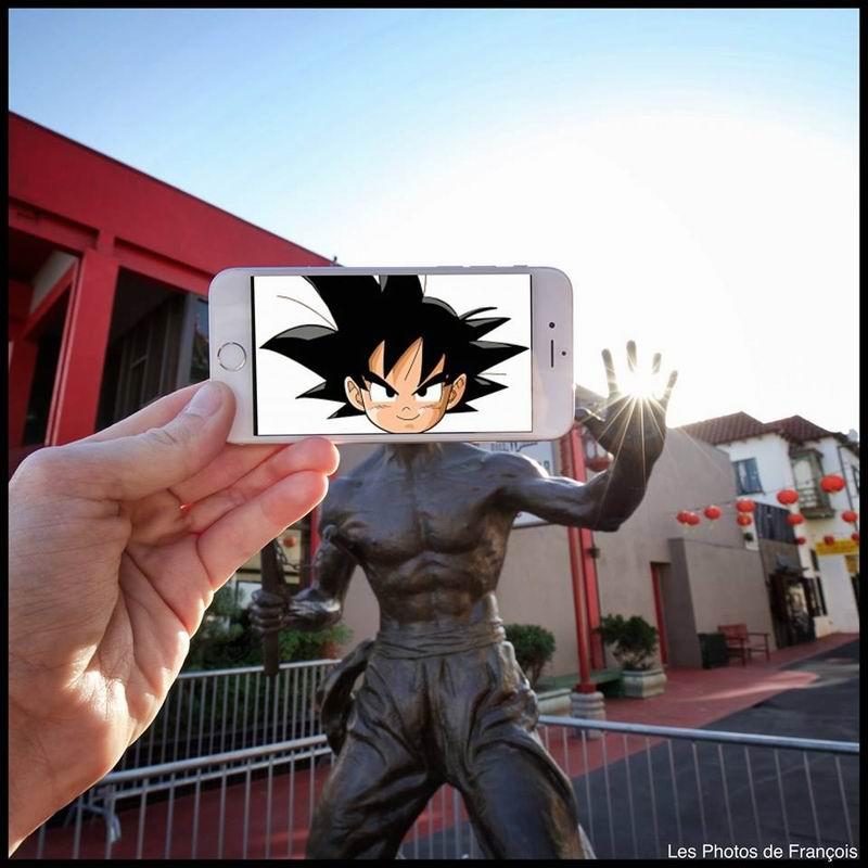 Goku Dan Patung Bruce Lee