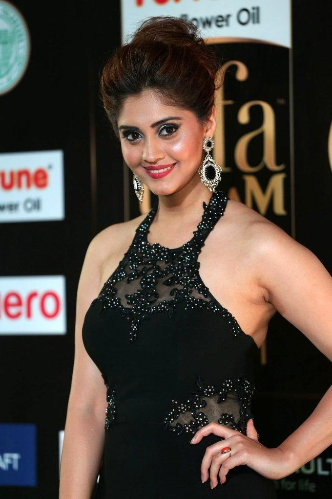 Tollywood Actress Surabhi At IIFA Awards 2017 In Black Dress