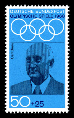 Carl Diem on a commemorative West German postage stamp
