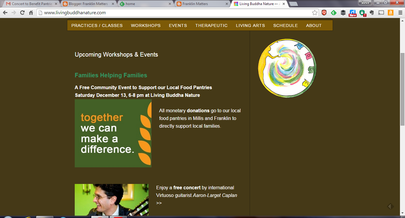 screen grab of Living Buddha Nature webpage