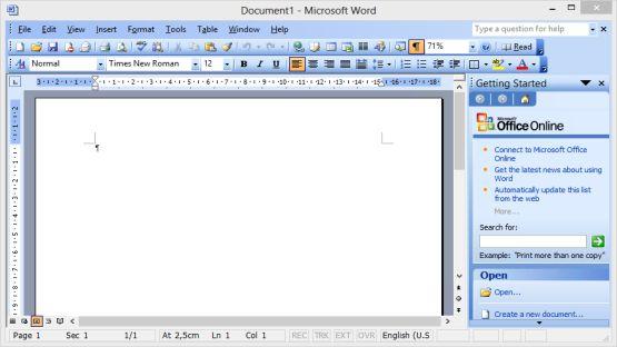 Office 2003 screenshot 3