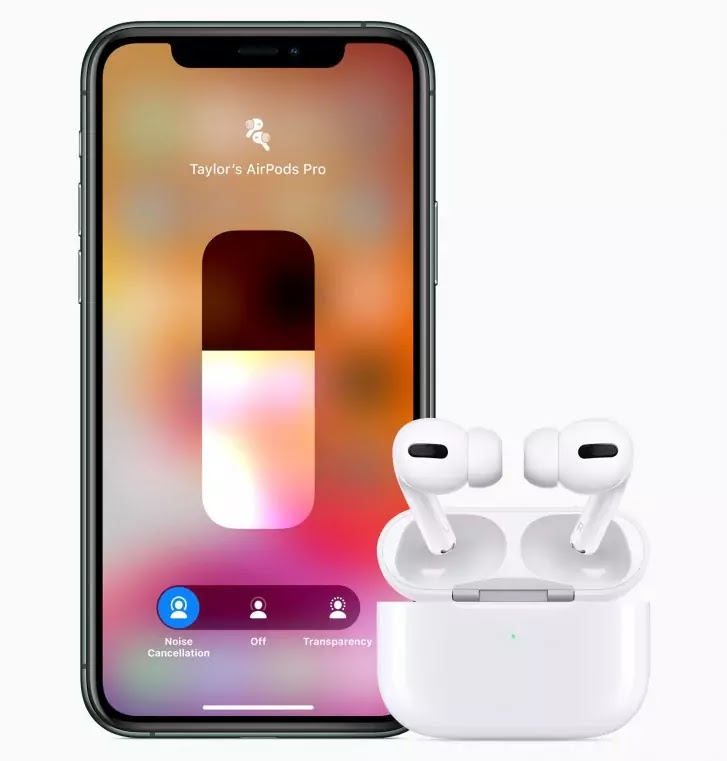 AirPods Pro Active Noise Cancellation and Transparency modes