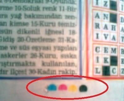Gazetelerin ve ambalajların üzerindeki renklerin anlamları