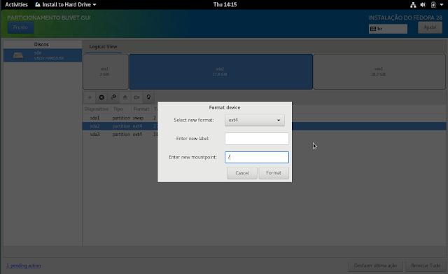 Linux dicas e suporte: Instalação do Fedora 28 Workstation