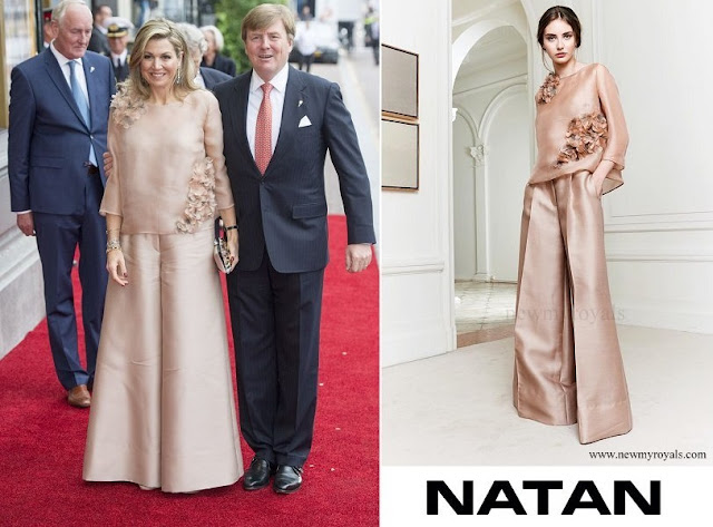 Queen Maxima wore Natan top and trousers