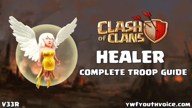 Healer Complete Guide Clash Of Clans Info Hack Healing Buildings Evolution Update Upgrade Strategy Wallpaper Fan Art