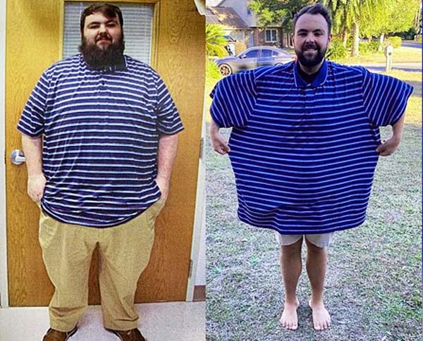 A man lost weight incredibly