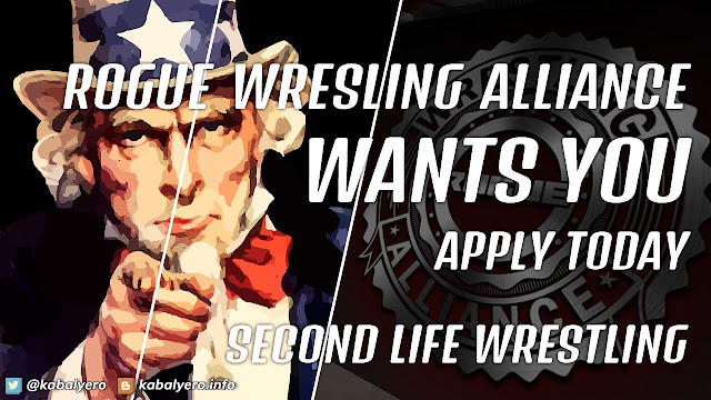 Rogue Wrestling Alliance Is HIRING TALENTS 2020! Second Life Wrestling!