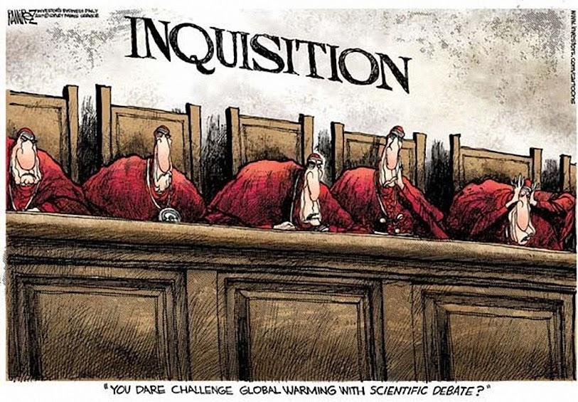 Inquisição,: Você se atreve a desafiar o aquecimento global com um debate científico?