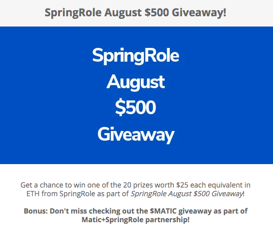 SPRINGROLE AUGUST GIVEAWAY