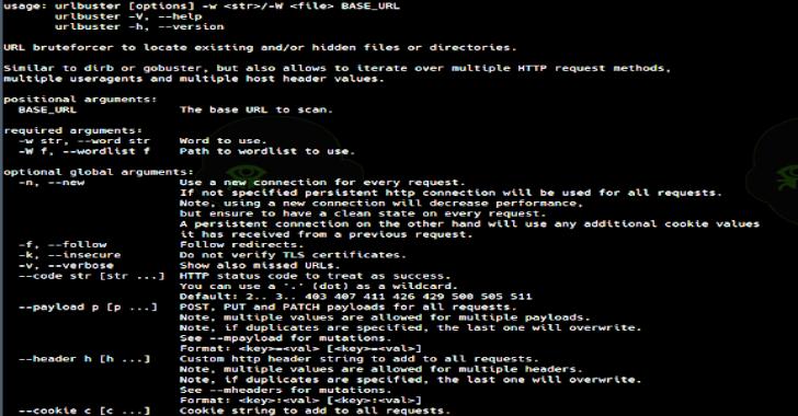 URLBuster : Powerful Mutable Web Directory Fuzzer To Bruteforce