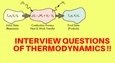 INTERVIEW QUESTIONS OF THERMODYNAMICS !!!