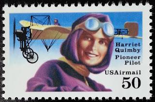 1991 50c Harriet Quimby, Pioneer Pilot
