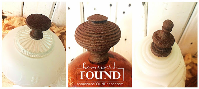 boho style, DIY, diy decorating, farmhouse style, fast cheap and easy, faux finish, found objects, Glass Globe Pumpkins, glass globes, junk makeover, junking, original designs, pumpkins, re-purposing, rustic style, fall, vintage, thrifted