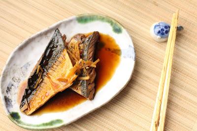 maquereau cuit au saké