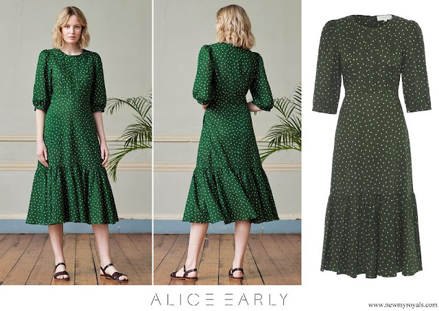 The Countess of Wessex wore Alice Early Eva Polka Dot Dress