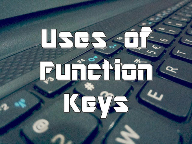 Uses of Function Keys in a Computer