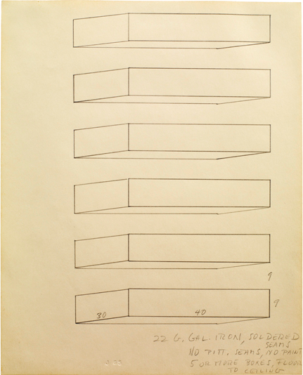 Donald Judd  Untitled, 1965 pencil on white paper 34,6 x 27,9 cm