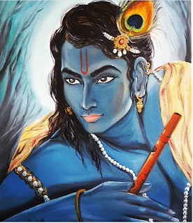 Awesome Painting of Lord Krishna