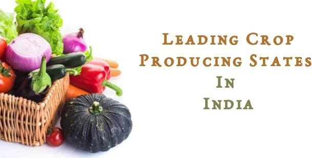 Leading Crop Producing States In India