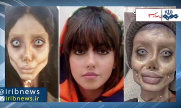 """Angelina Jolie 'lookalike' Sahar Tabar jailed for 10 years in Iran for posting distorted pictures of herself online"""