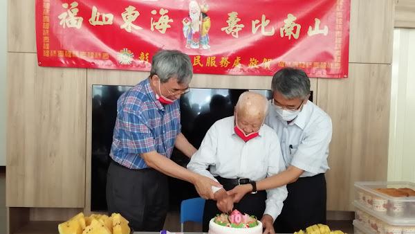 彰化縣榮民服務處為彰化耆宿榮民鄭保太爺爺歡慶101歲壽誕