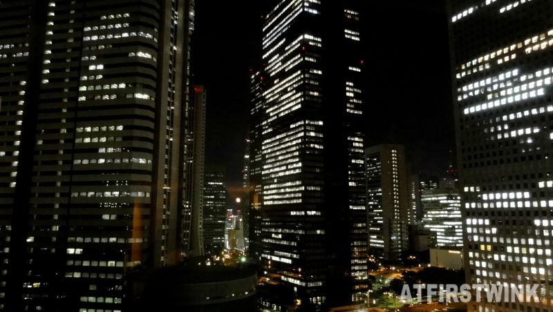 Shinjuku office buildings night view