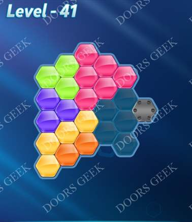 Block! Hexa Puzzle [Intermediate] Level 41 Solution, Cheats, Walkthrough for android, iphone, ipad, ipod