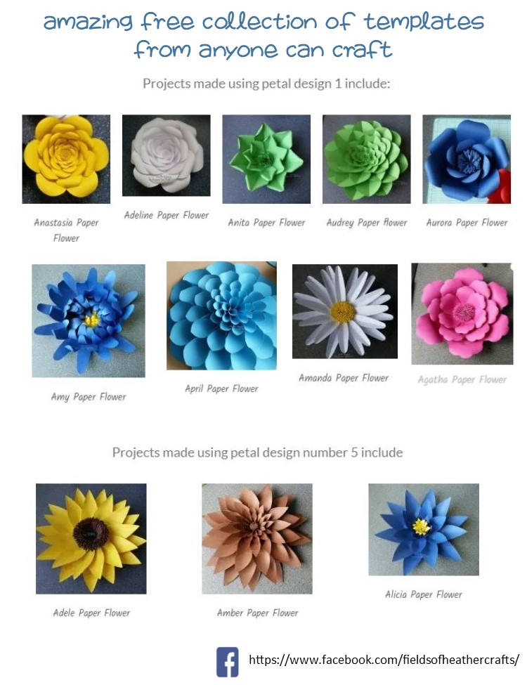 Download Free Templates & Tutorials For Making Paper Flowers With ...