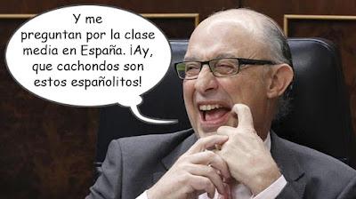 Texto - Yme preguntan por la clase media en España. ¡Ay, qué cachondos estos españolitos!