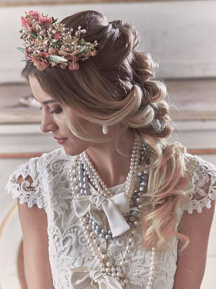 peinado para novia 2020 trenzas