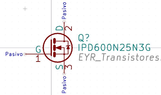 Librerías para KiCad: IPD600N25N3G - MOSFET canal N