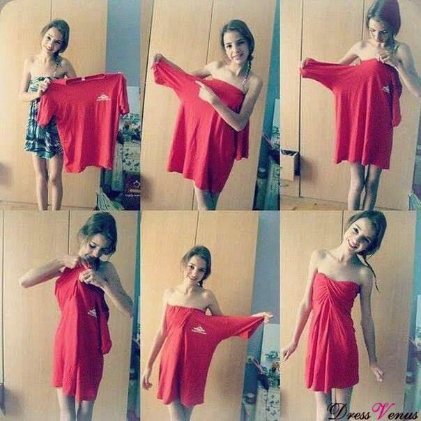 Camisetas grandes reutilizalas de vestidos