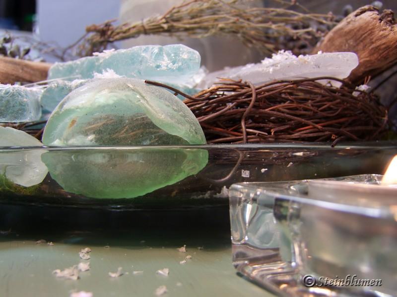 Winterdeko Glasschale